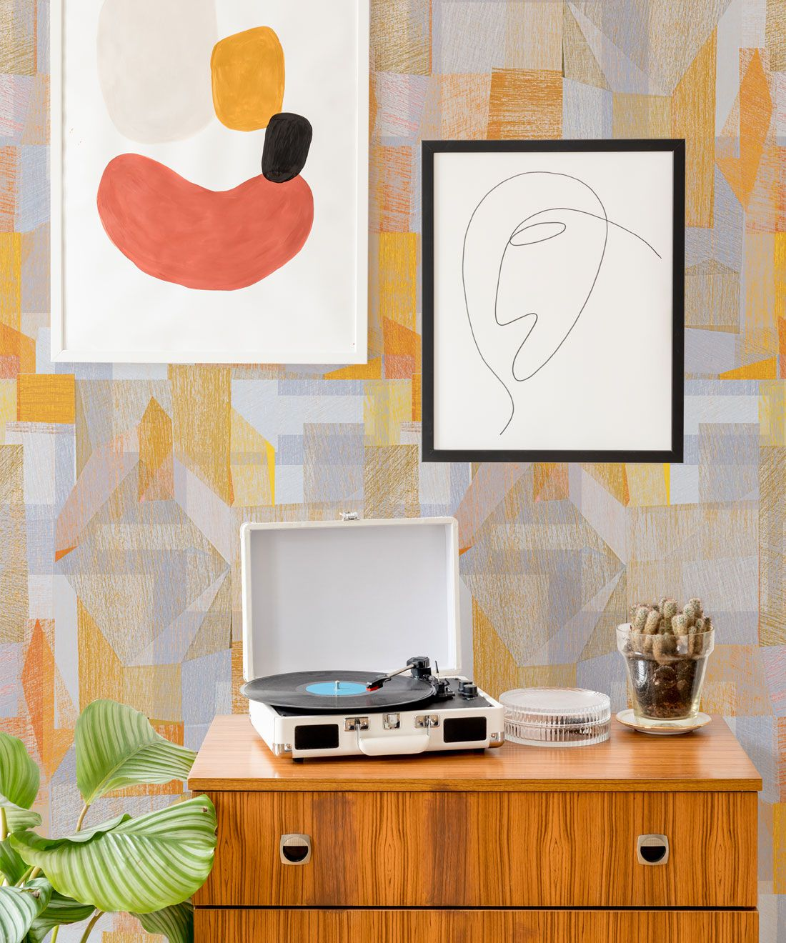 Chimera Wallpaper by Simcox • Color Yellow • Abstract Wallpaper • Geometric Wallpaper • insitu