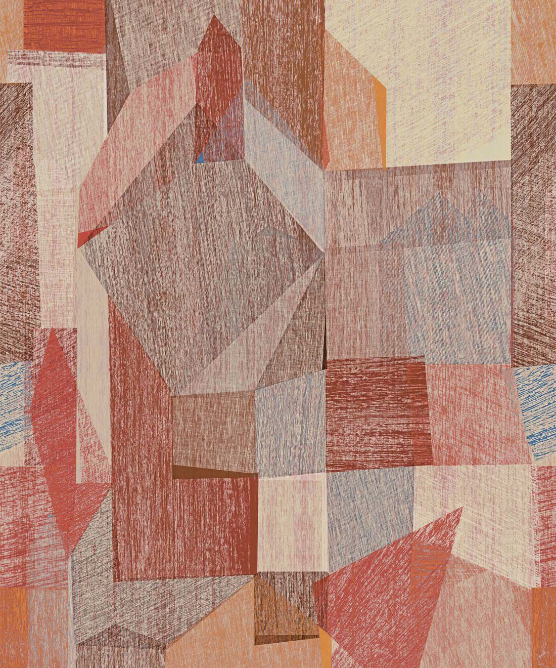 Chimera Wallpaper by Simcox • Color Rust • Abstract Wallpaper • Geometric Wallpaper • Swatch