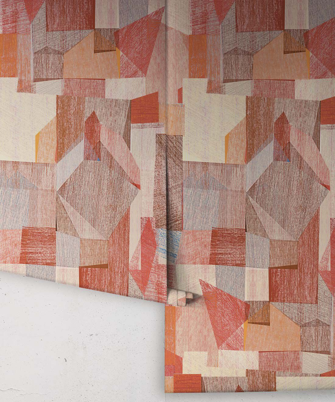 Chimera Wallpaper by Simcox • Color Rust • Abstract Wallpaper • Geometric Wallpaper • rolls