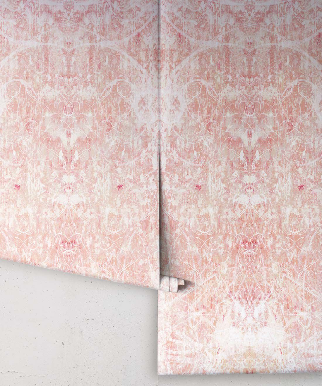 Hori Wallpaper by Simcox • Color Peach • Abstract Wallpaper • rolls