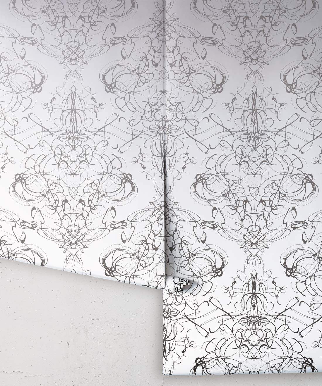 Menna Wallpaper by Simcox • Color black and white • Contemporary Wallpaper • rolls