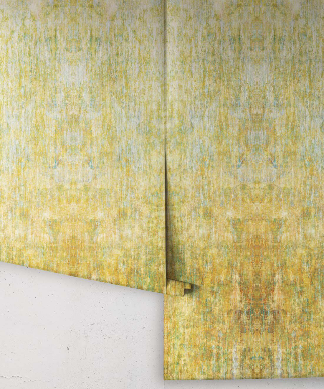 Patina Wallpaper by Simcox • Color Gold • Abstract Wallpaper • rolls