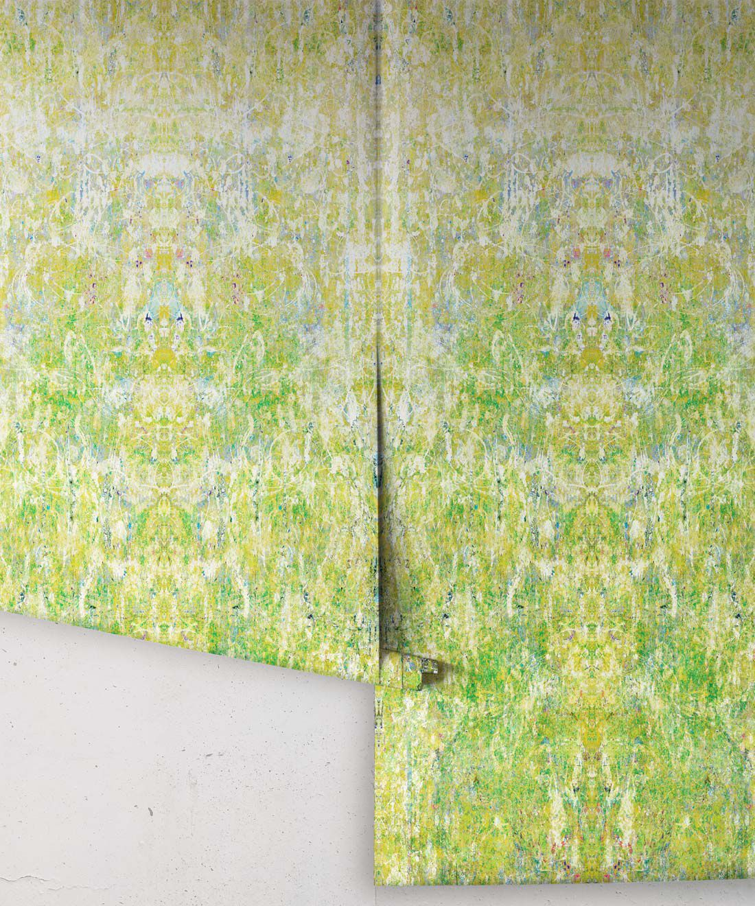 Ramose Wallpaper by Simcox • Color Moss • Abstract Wallpaper • rolls