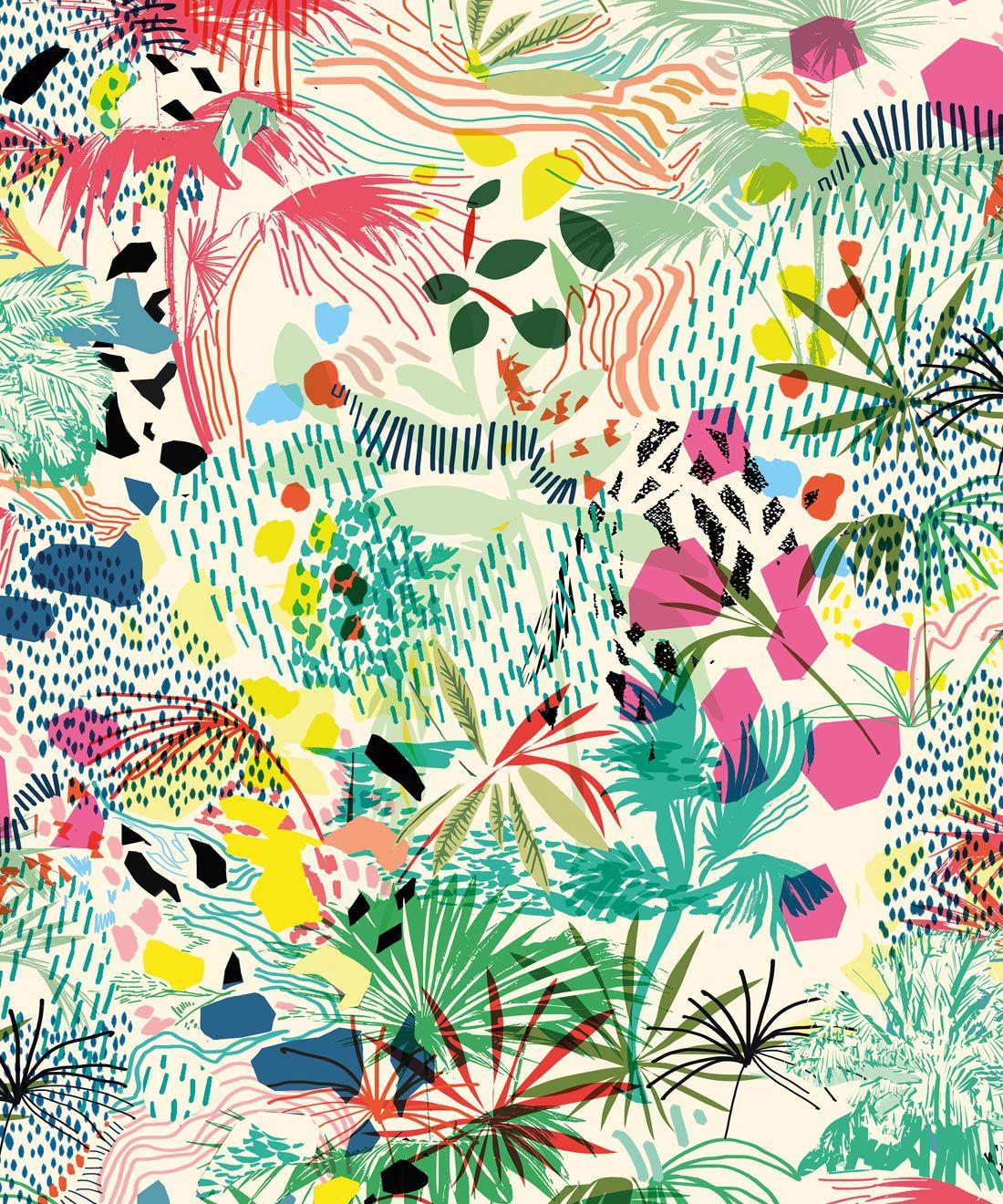 Encinitas Wallpaper • Colourful Floral Wallpaper • Swatch