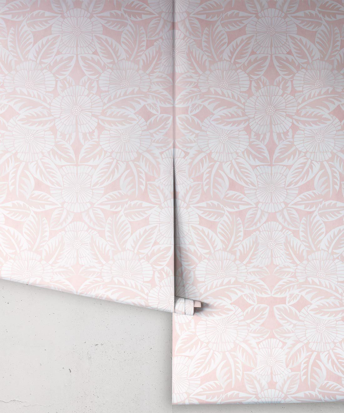 Calcutta Wallpaper • Flower and Leaf Motif Design • Ethnic Wallpaper • Pink Wallpaper • Rolls