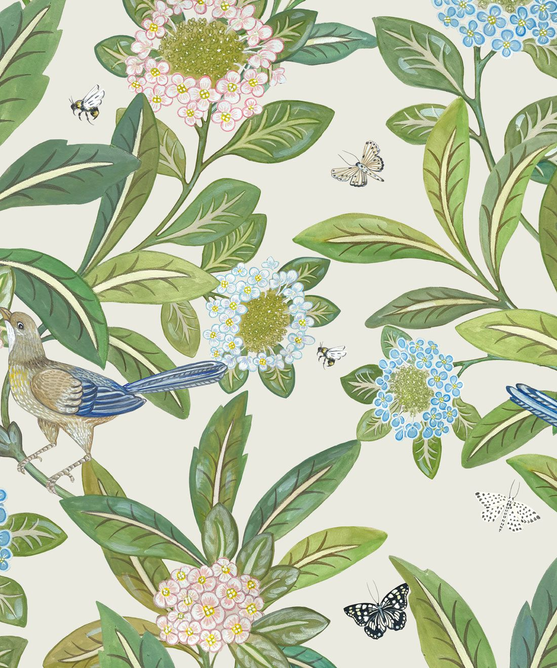 Summer Garden Wallpaper (Two Rolls)