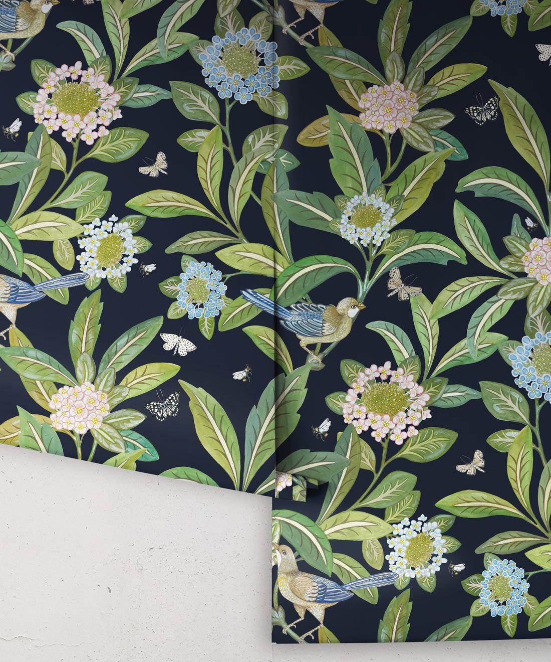 Summer Garden Wallpaper • Original Wallpaper • Floral Wallpaper Rolls