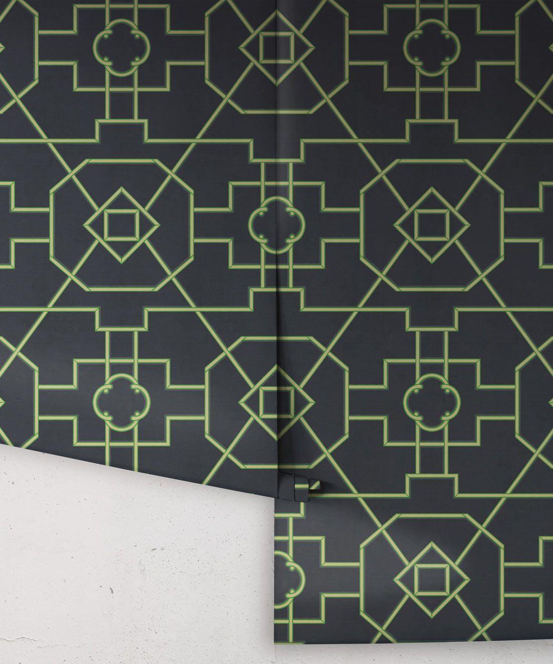 Trellis Wallpaper • Geometric Wallpaper • Charcoal Wallpaper • Rolls