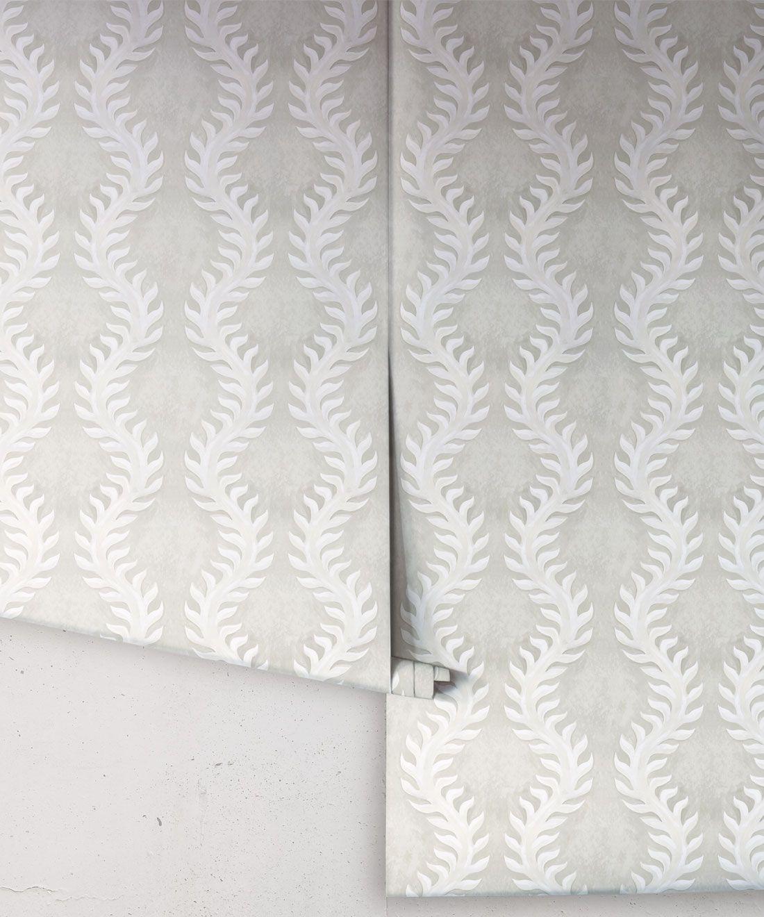 Fern Wallpaper • Beige •Rolls