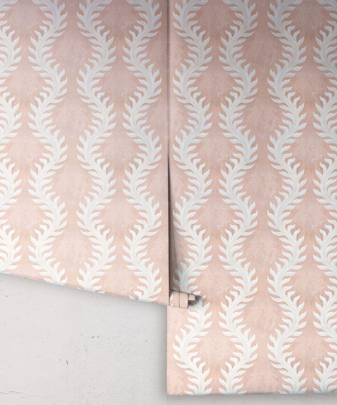 Fern Wallpaper • Pink Wallpaper •Rolls