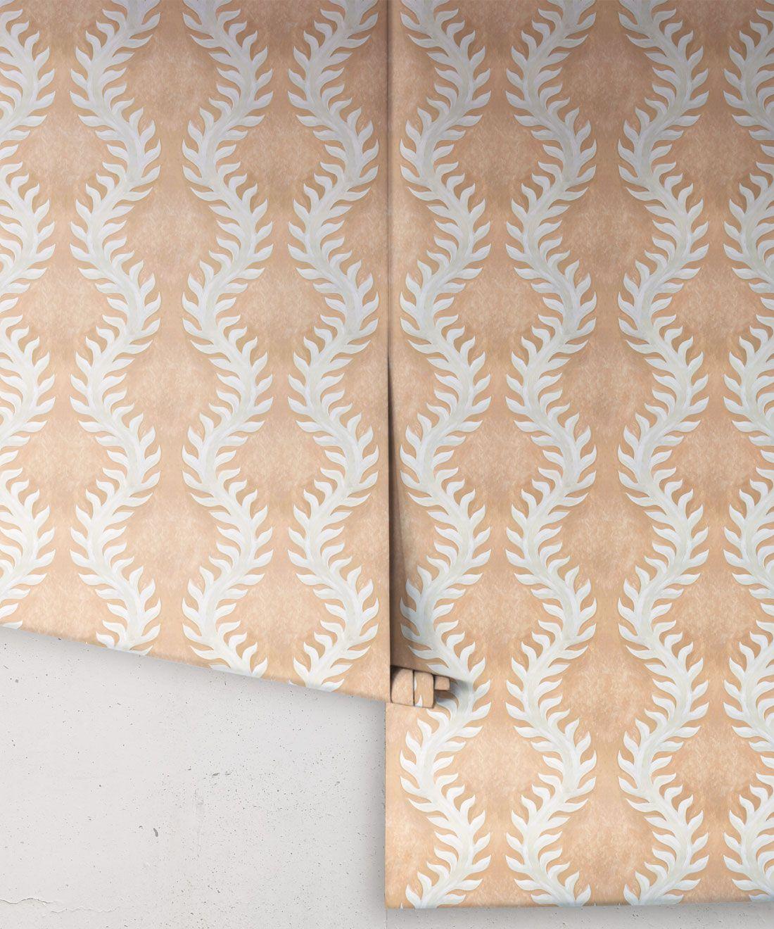 Fern Wallpaper • Salmon Wallpaper •Rolls