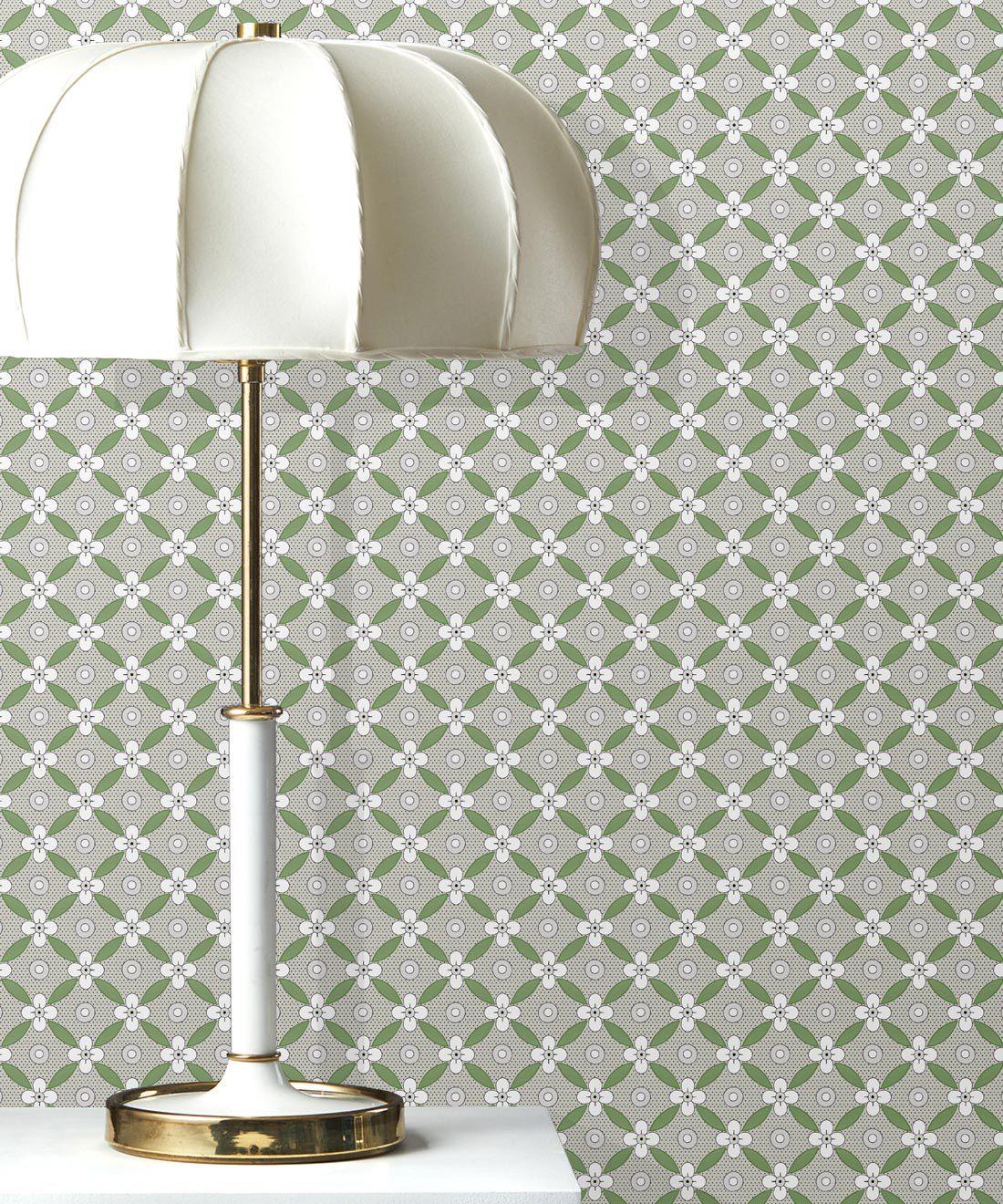 Petite Wallpaper • Fern Green • Insitu