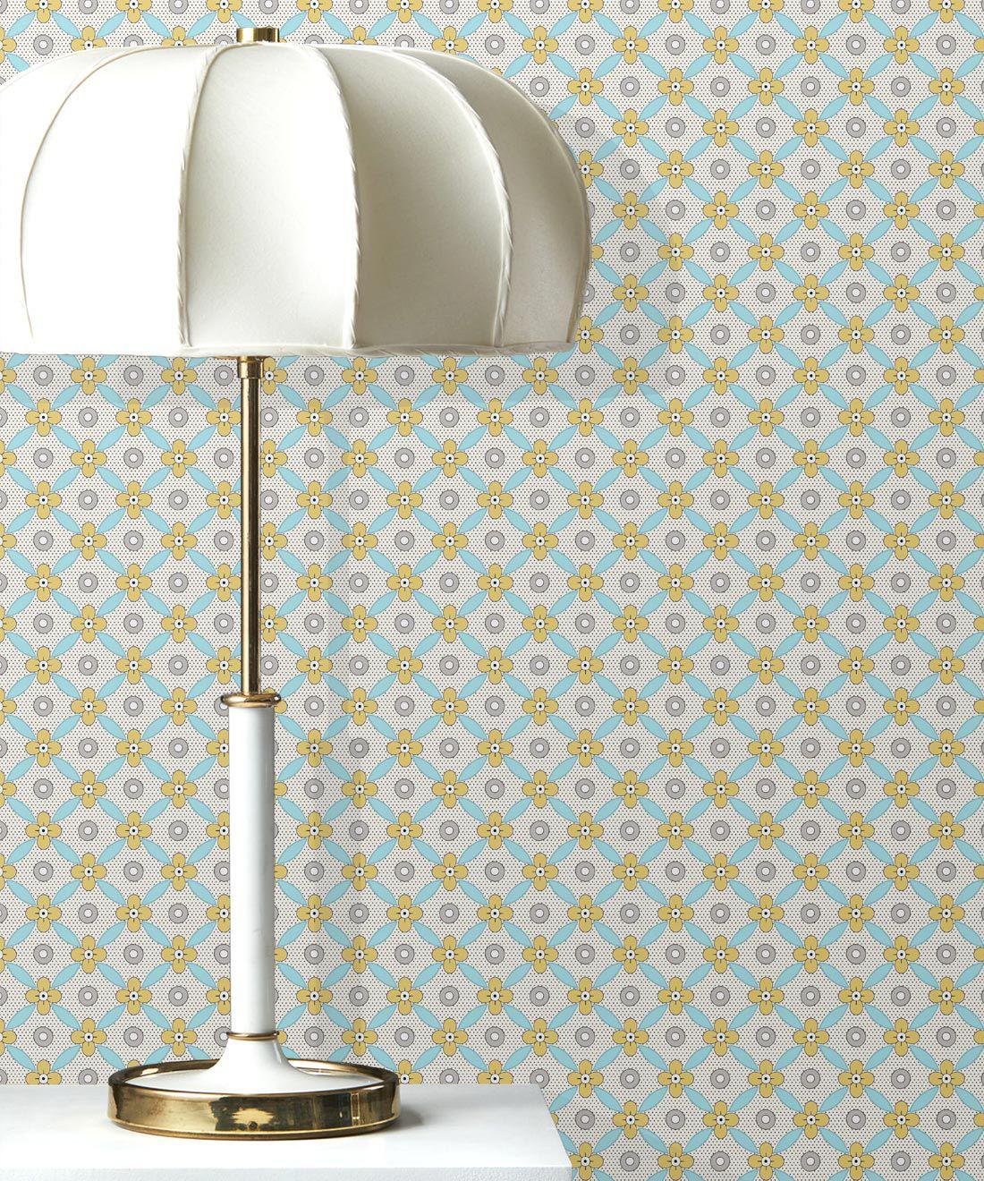 Petite Wallpaper • Mustard • Insitu