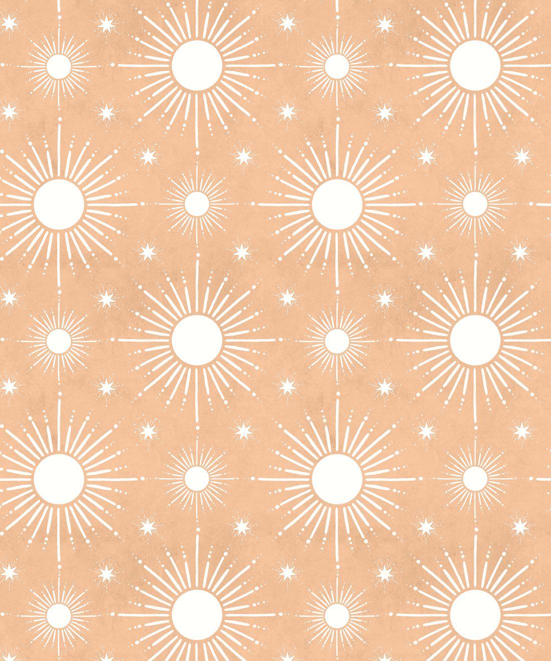 Sun Light Star Bright Wallpaper • Salmon• Swatch