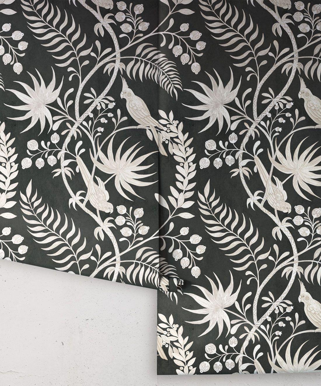 Tropicana Wallpaper • Charcoal • Rolls