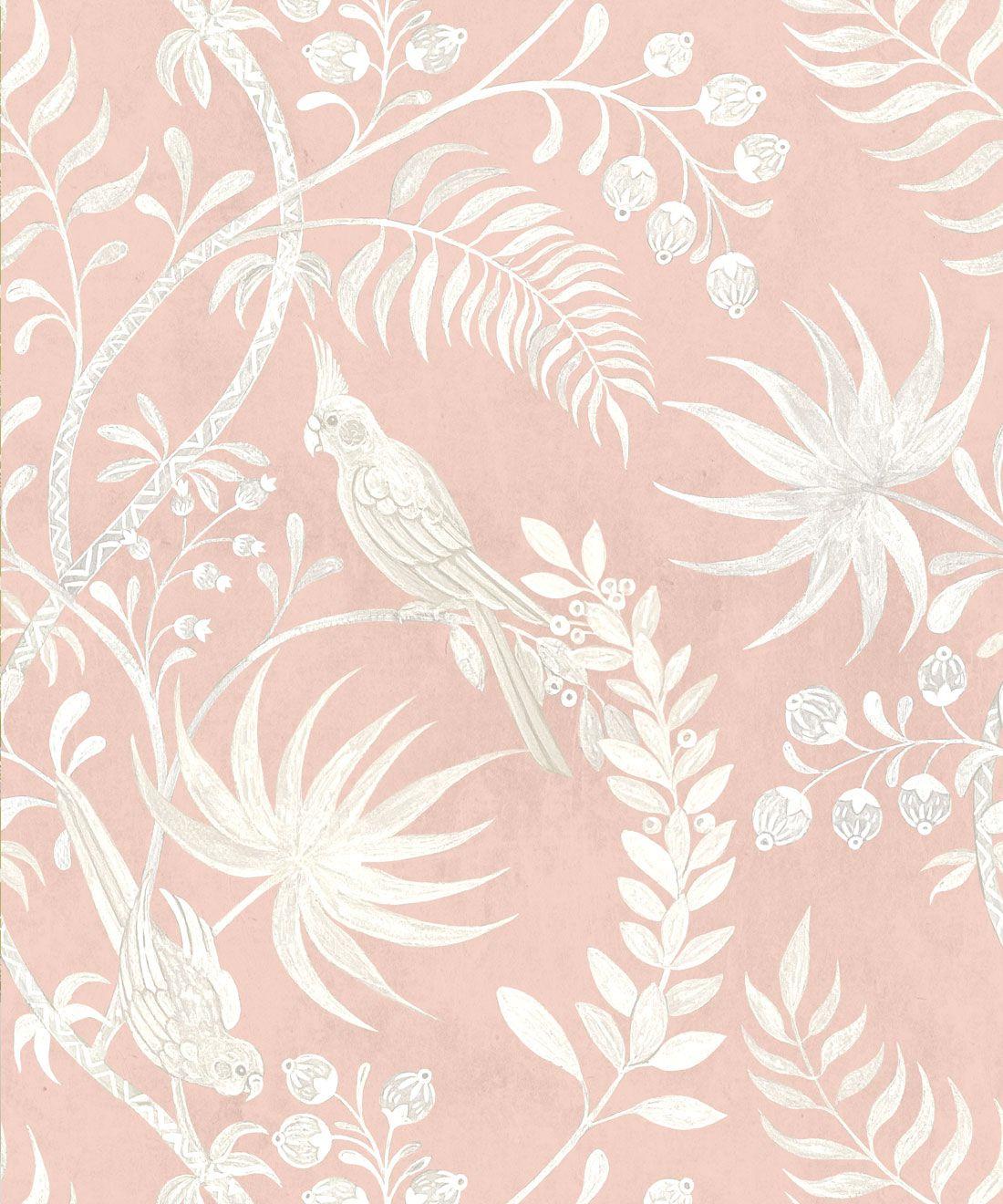 Tropicana Wallpaper • Dusty Pink • Swatch