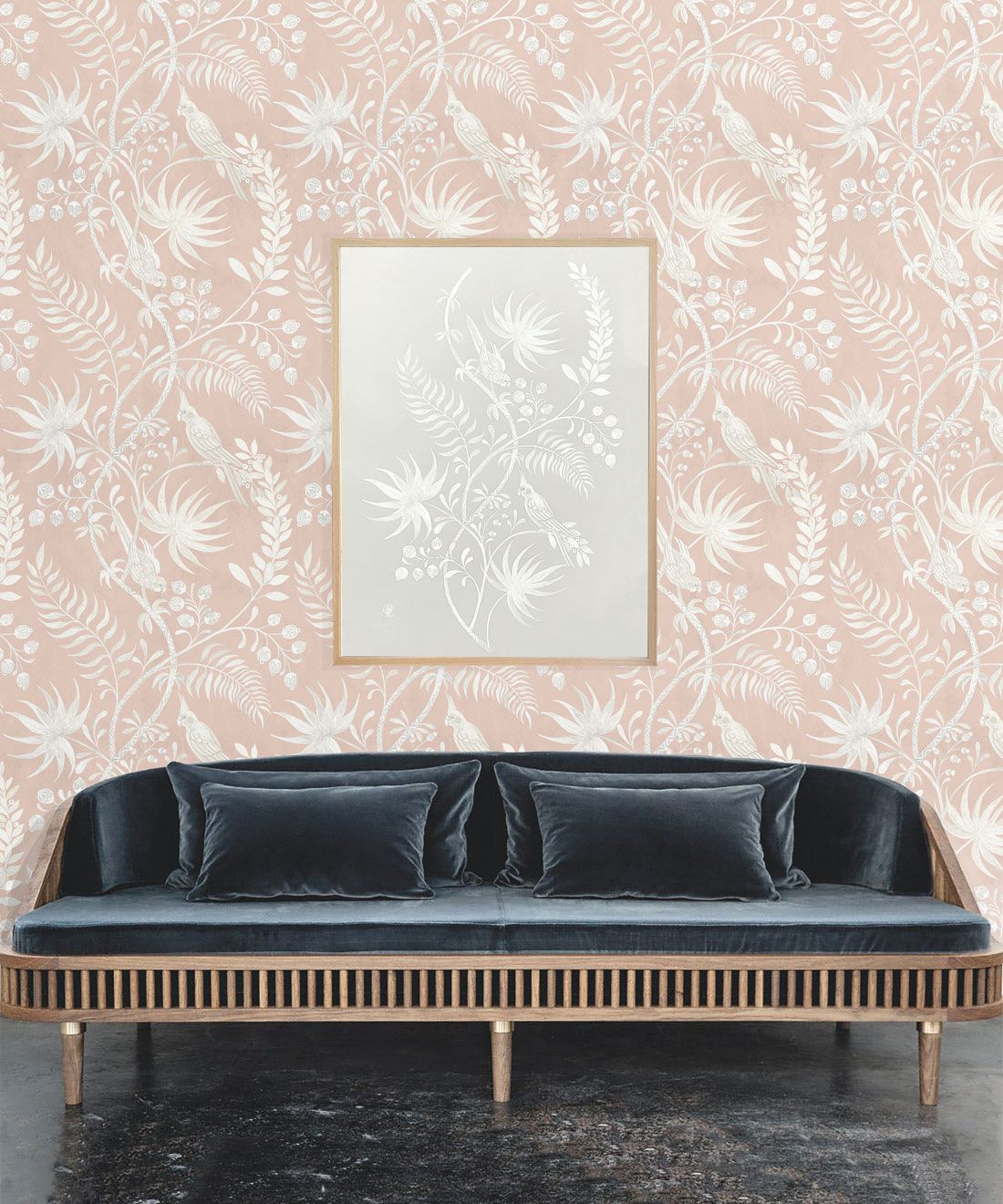 Tropicana Wallpaper • Dusty Pink • Insitu