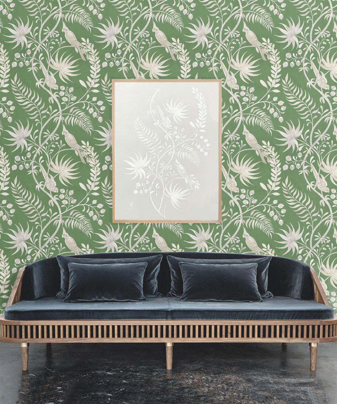 Tropicana Wallpaper • Fern Green • Insitu