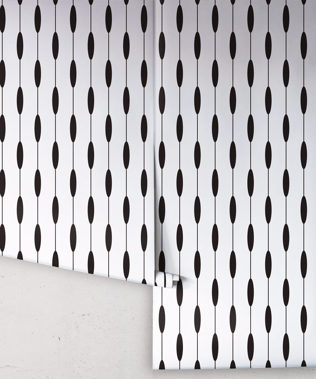 Bowline Wallpaper • Geometric Wallpaper • Striped Wallpaper • Black & White Wallpaper •Rolls