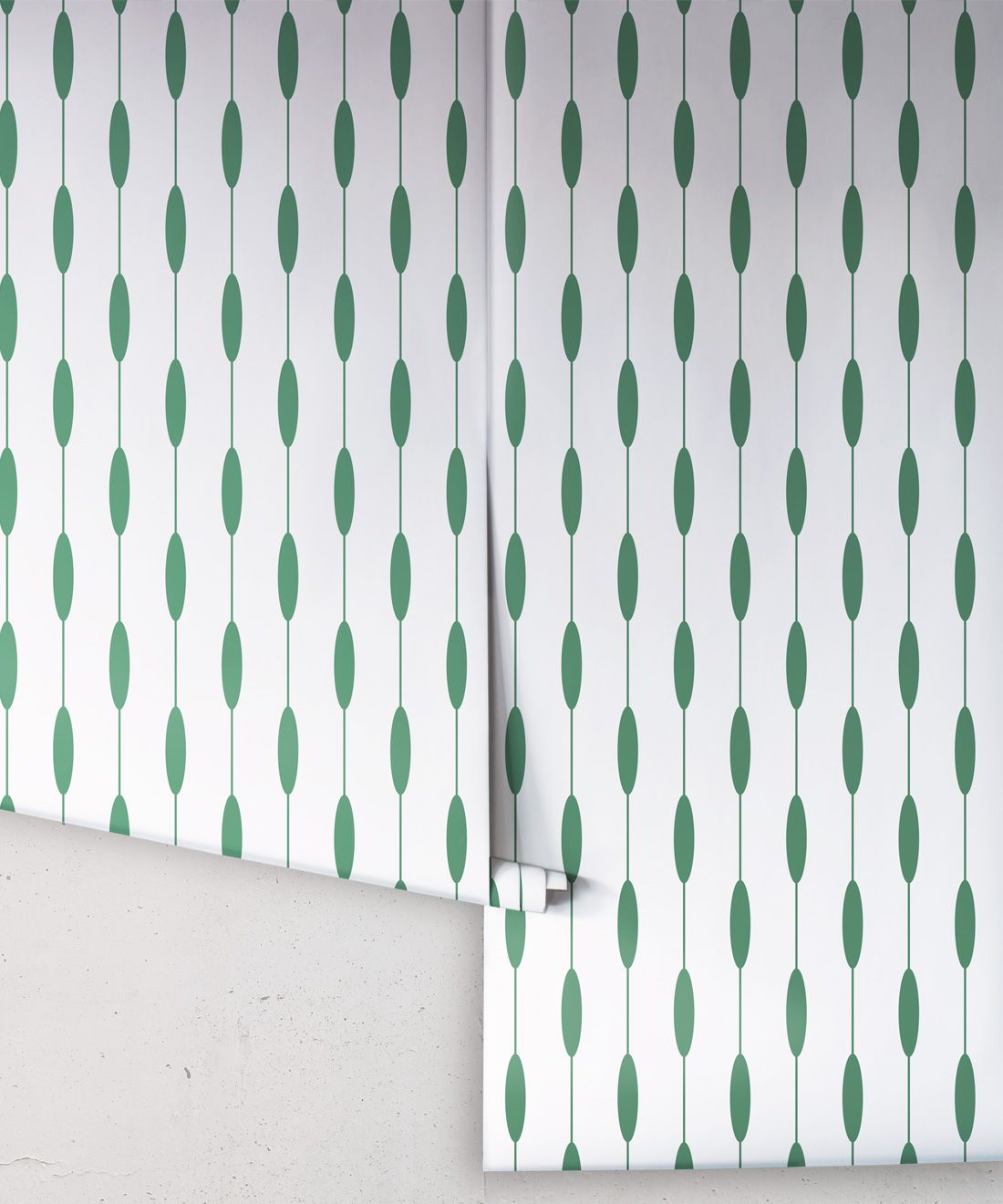 Bowline Wallpaper • Geometric Wallpaper • Striped Wallpaper • Green Wallpaper •Rolls