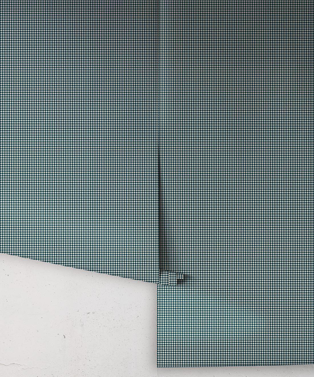 Houndstooth Wallpaper • Dogstooth Wallpaper • Dark Green •Rolls