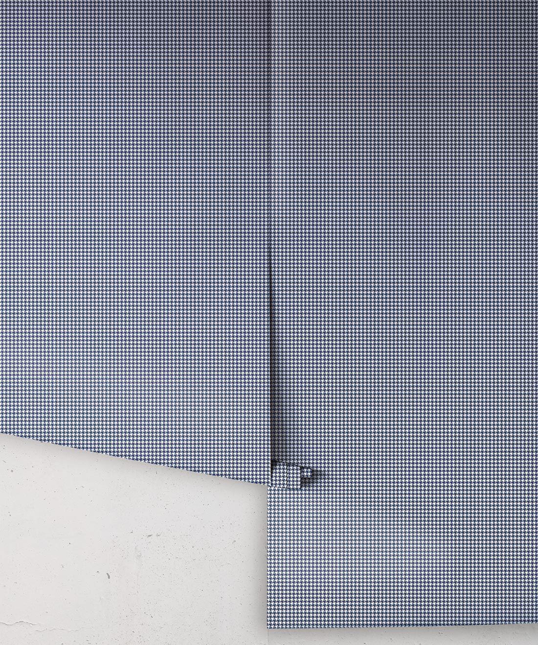 Houndstooth Wallpaper • Dogs tooth Wallpaper • Navy •Rolls