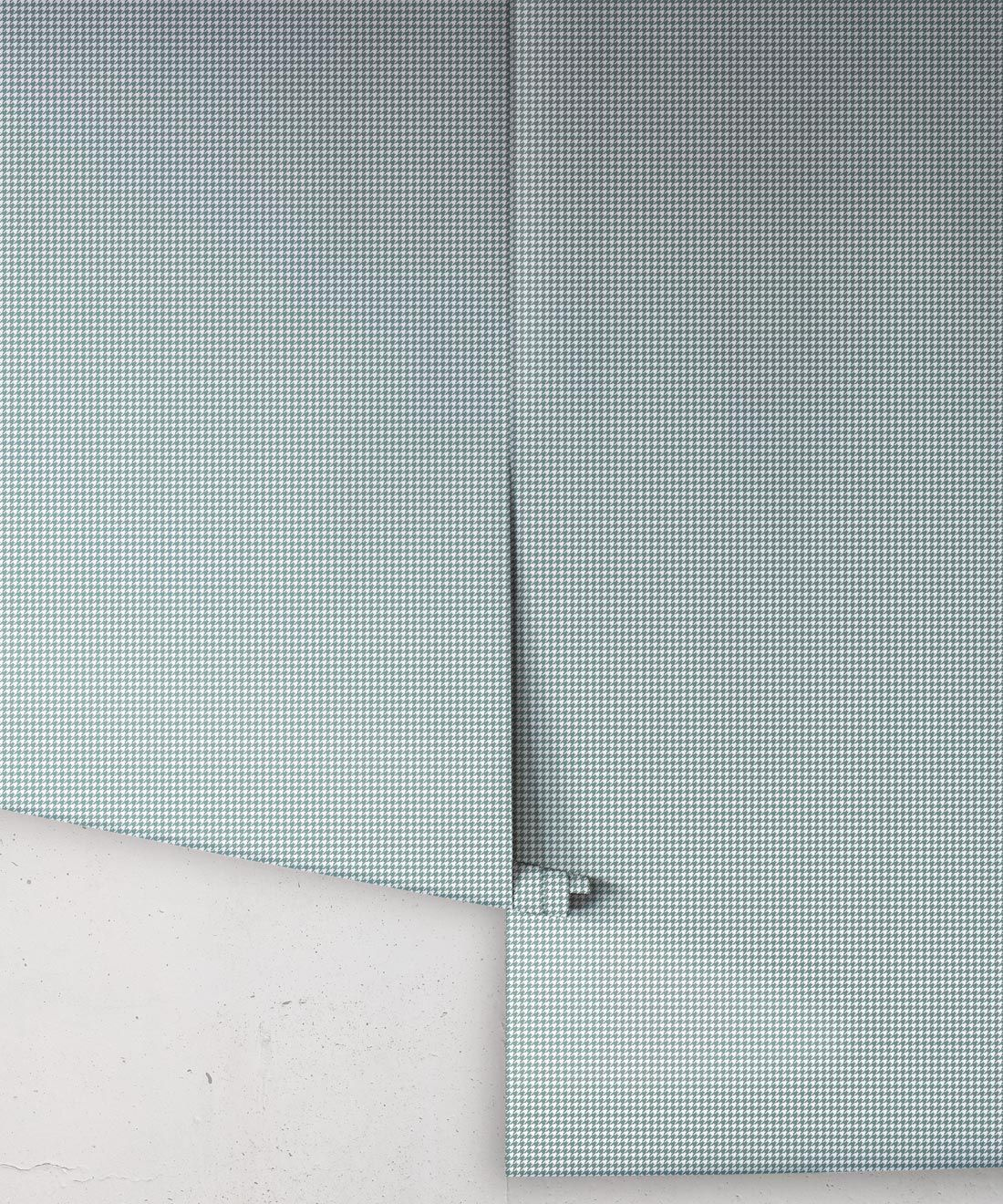 Houndstooth Wallpaper • Dogstooth Wallpaper • Teal Pewter •Rolls