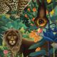 The Jungle Wallpaper • Animal Wallpaper • Botanical Wallpaper • Greenery Wallpaper • Swatch