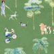 At The Dog Park Wallpaper •Kids Wallpaper • Green • Swatch