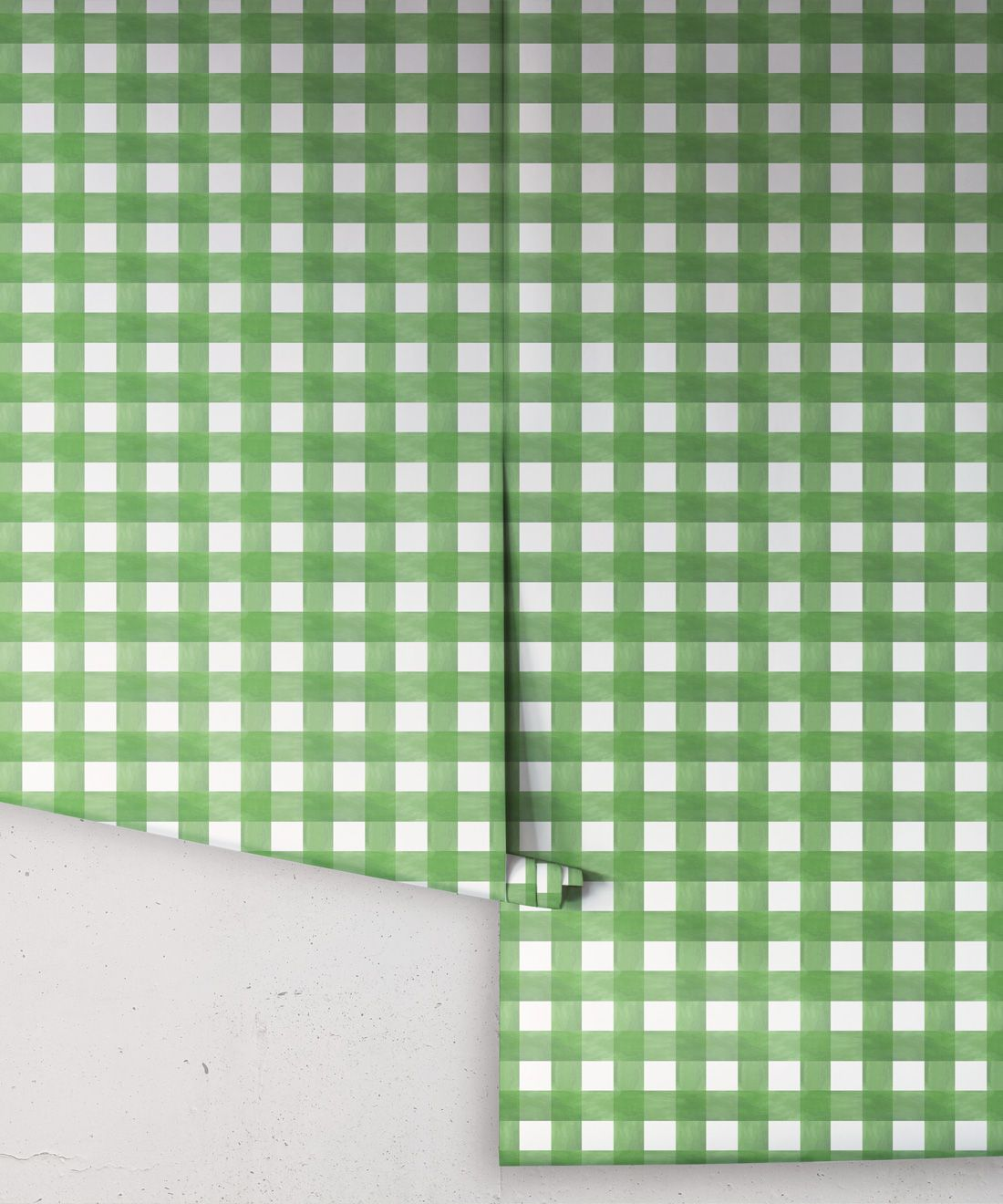 Check Wallpaper • Green •Rolls