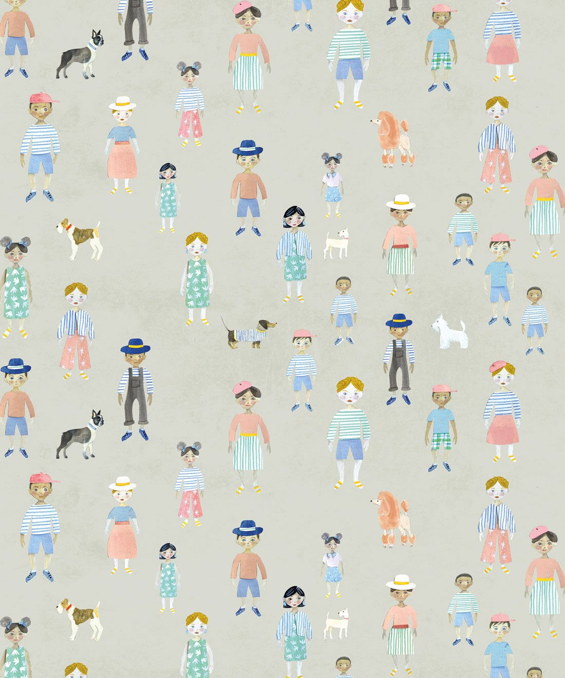 Paper Dolls Wallpaper