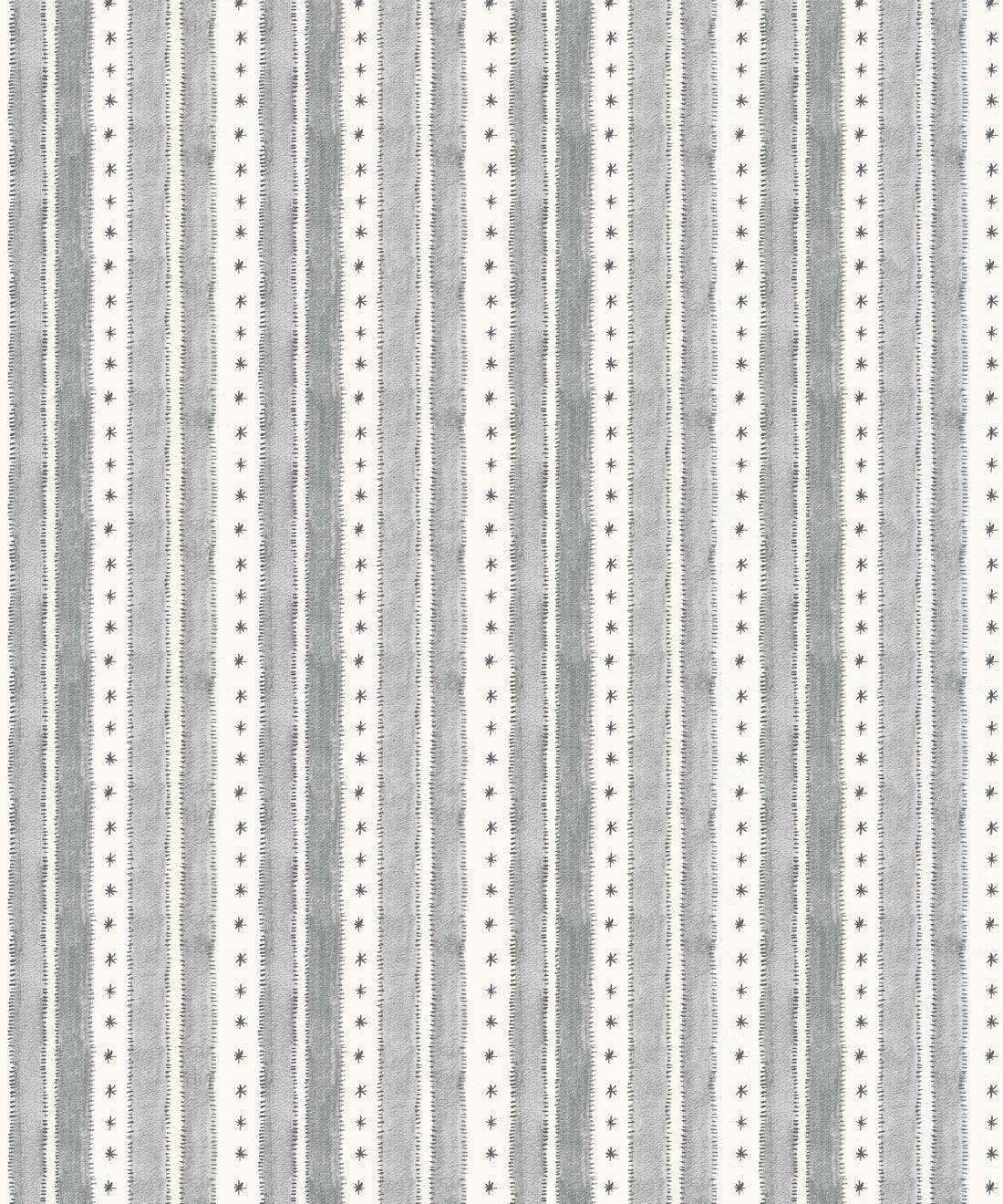 Star Stripe Wallpaper • Charcoal • Swatch
