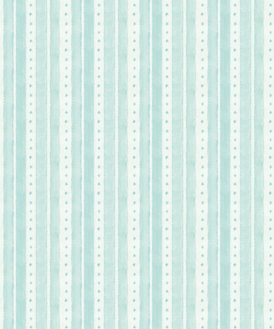 Star Stripe Wallpaper • Turquoise • Swatch