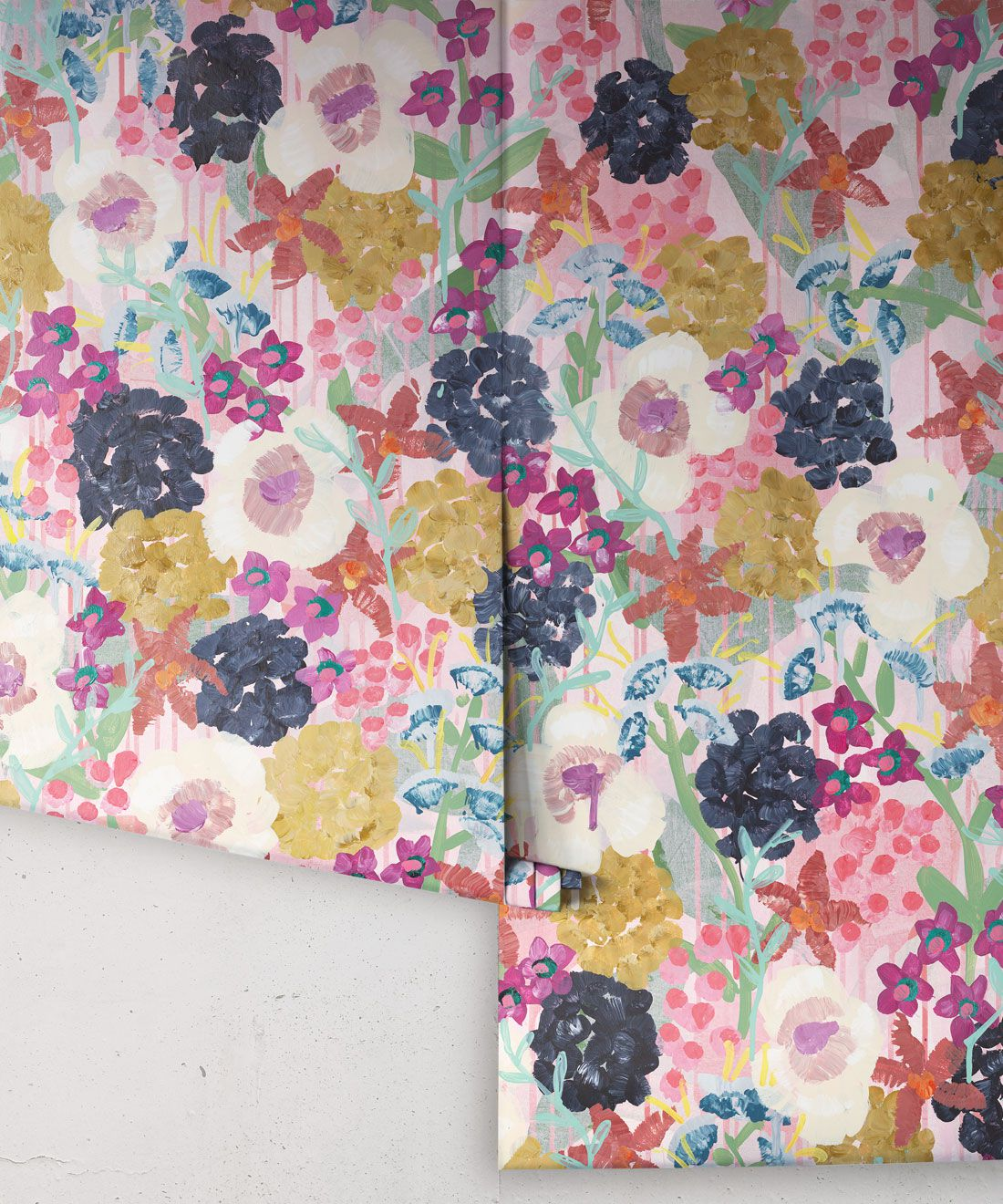 Garden State Wallpaper •Colourful Floral Wallpaper • Tiff Manuell • Abstract Expressionist Wallpaper • Rolls