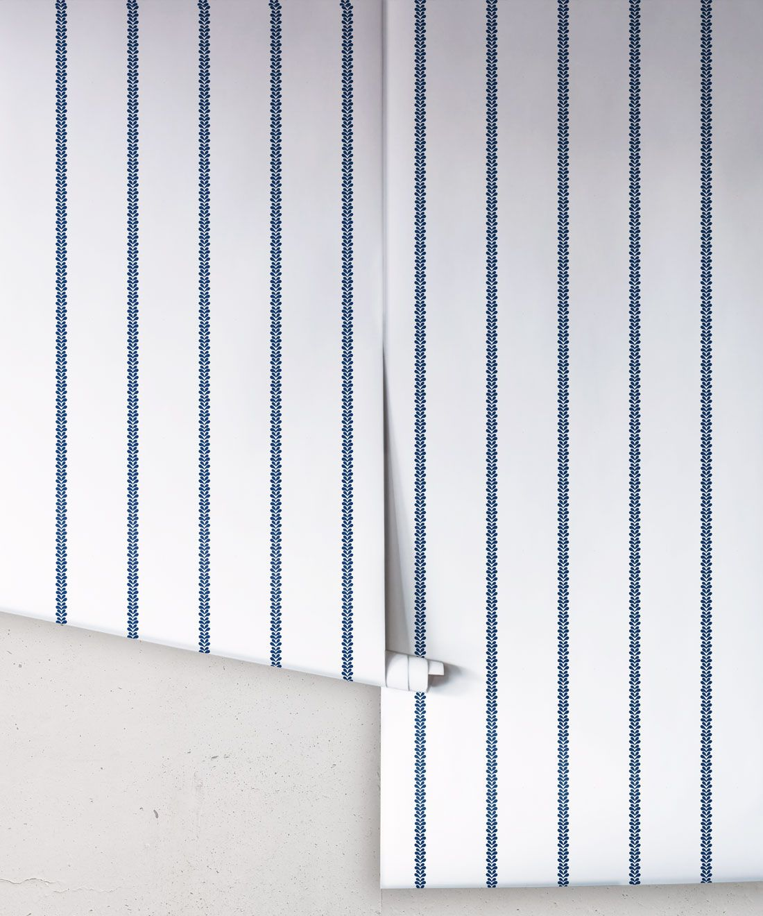 Chemin Wallpaper • Striped Wallpaper • Royal Blue • Rolls
