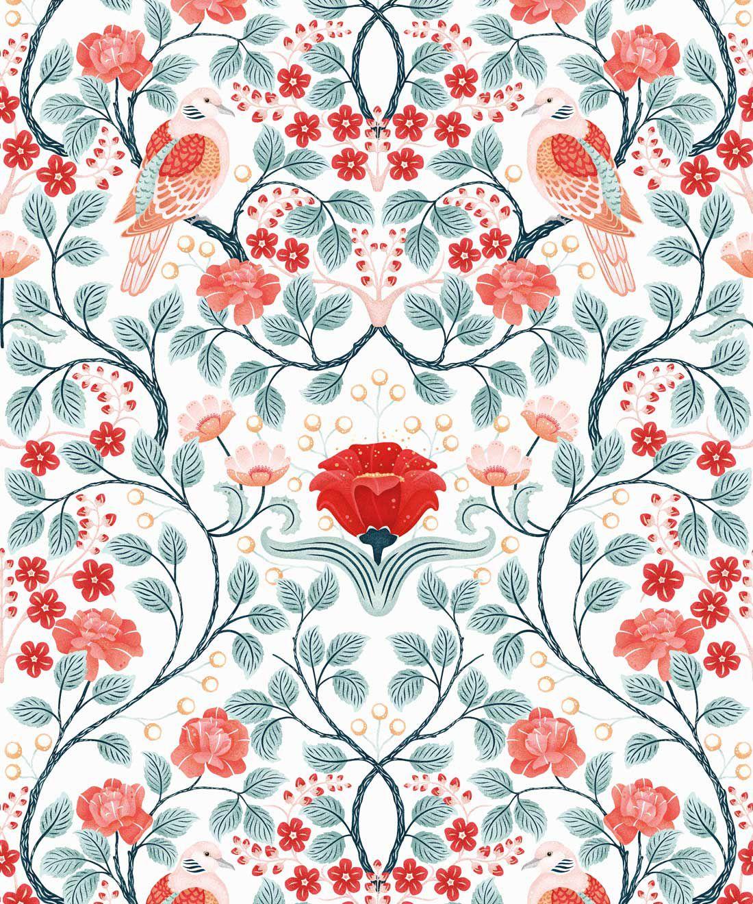 Turtle Doves Wallpaper