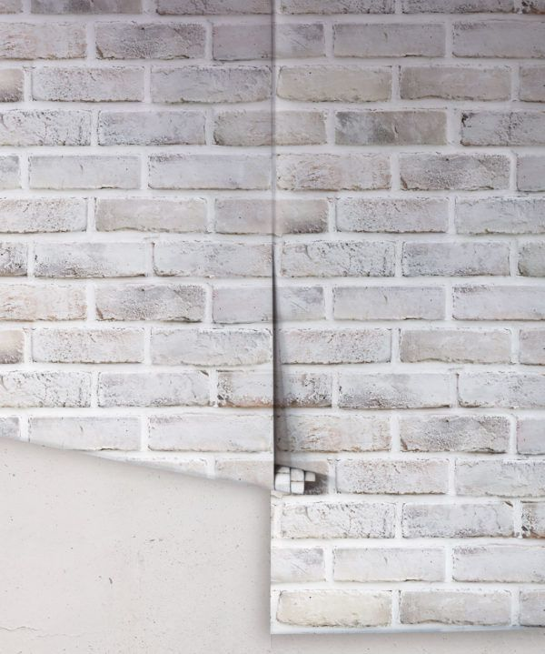 Lime Washed Bricks • Two Drops Of wallpaper • Grey Brick Wallpaper • White Brick Wallpaper • Neutral Brick Wallpaper