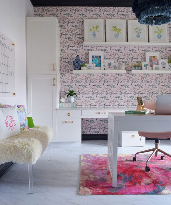 Birds Of Paradise • Teresa Chan • Pink Lady • We're The Joneses • home office wallpaper