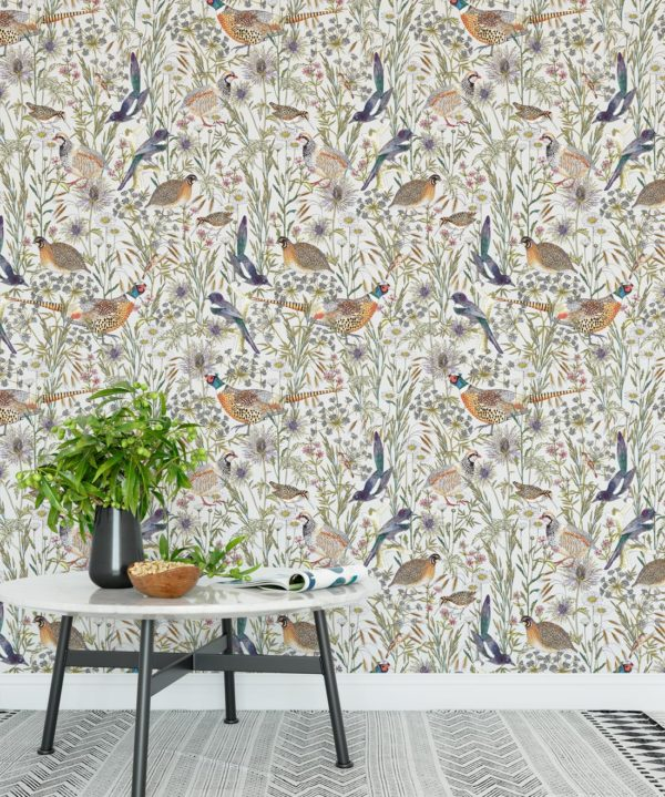 Woodland Birds Wallpaper • Milton & King UK