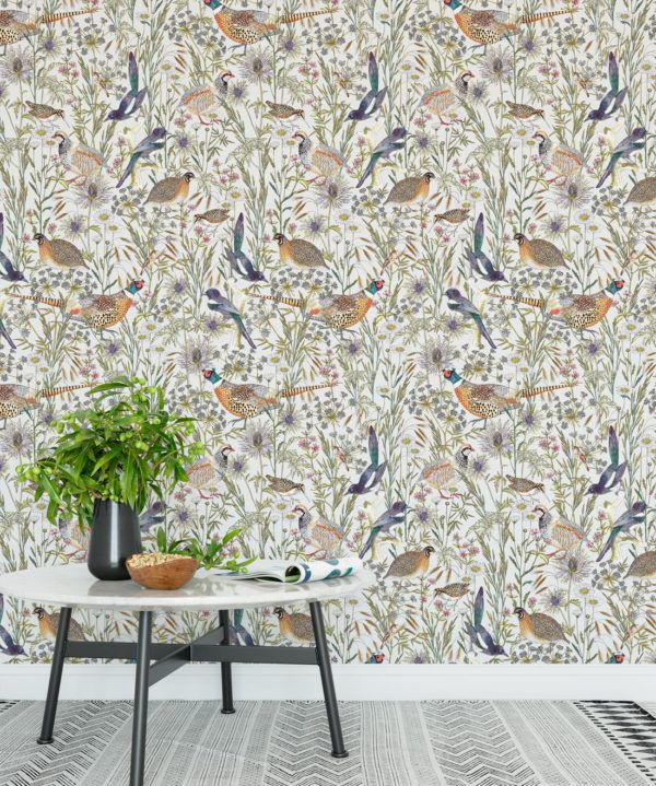 Woodland Birds Wallpaper • Milton & King UK