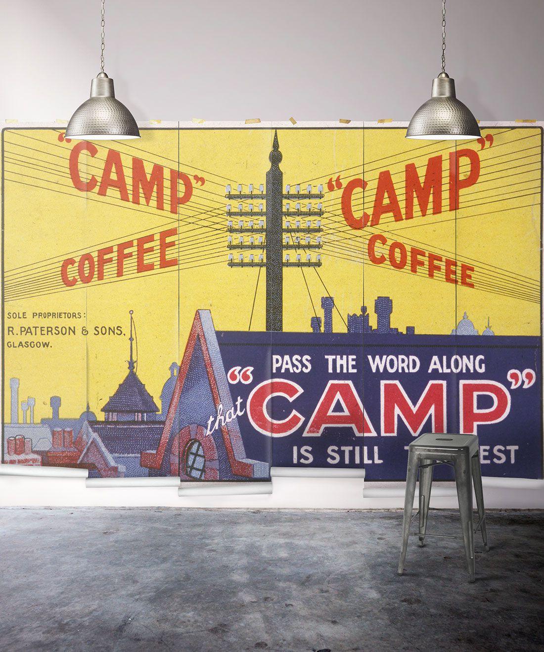 Camp Coffee Mural