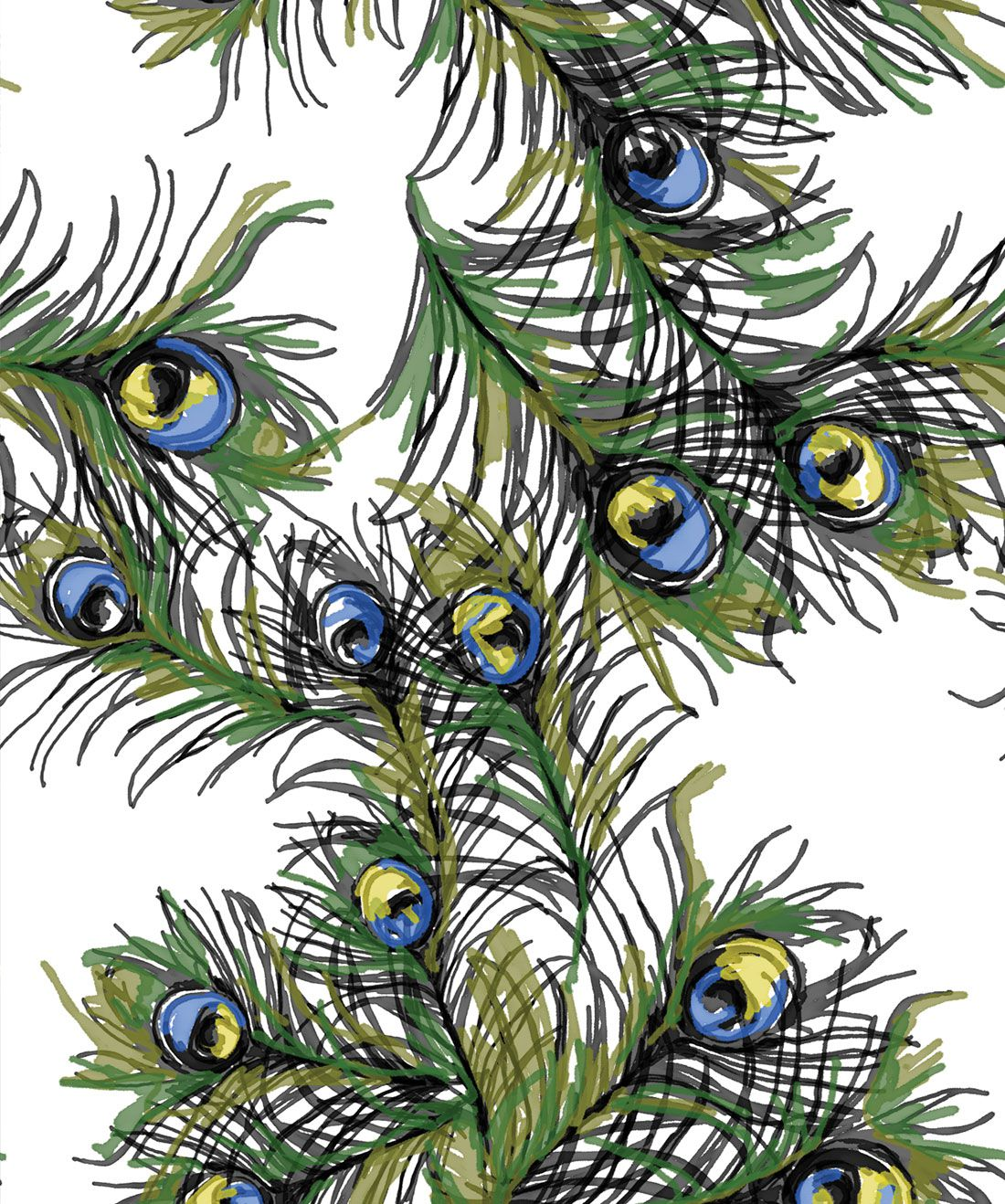 Ruffled Feathers Wallpaper