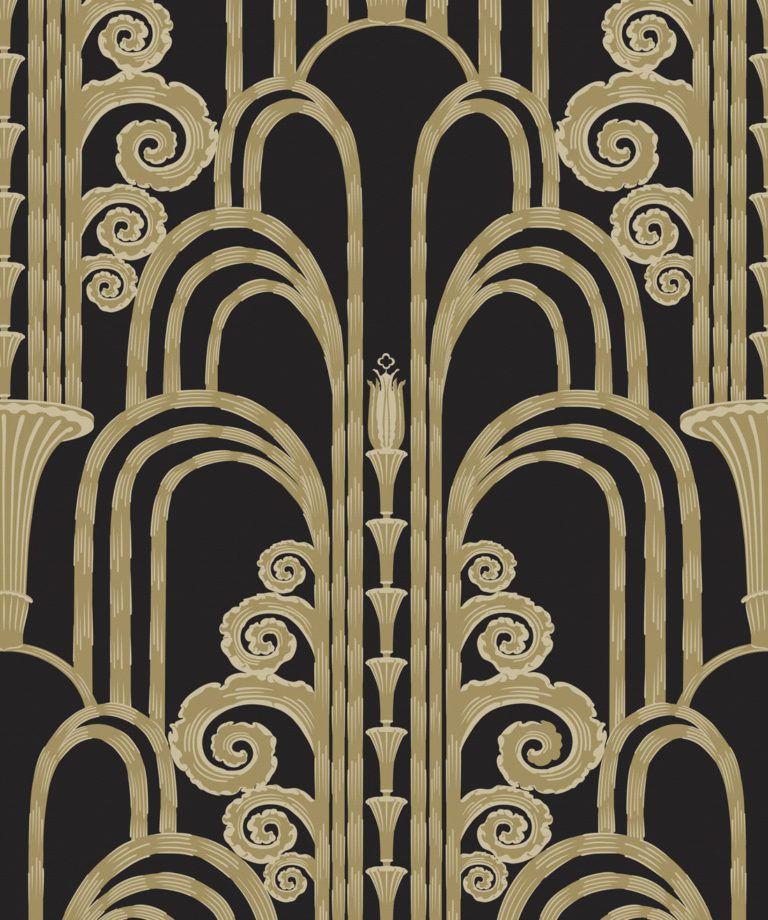 La Fontaine Night - Black Wallpaper