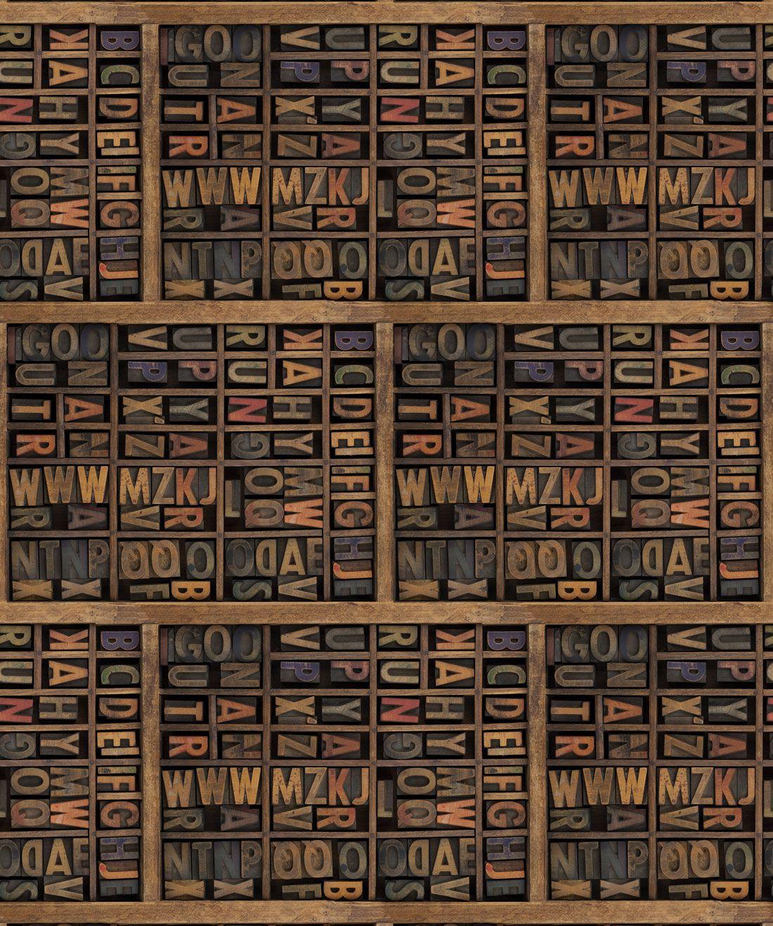 Letter Press Wallpaper