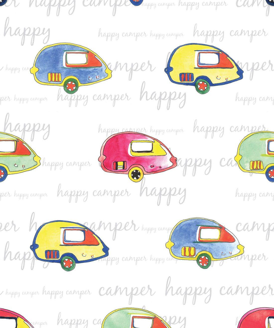 Happy Camper Wallpaper