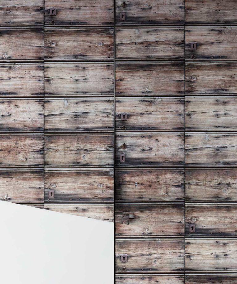 Timber and Nails Wood Wallpaper