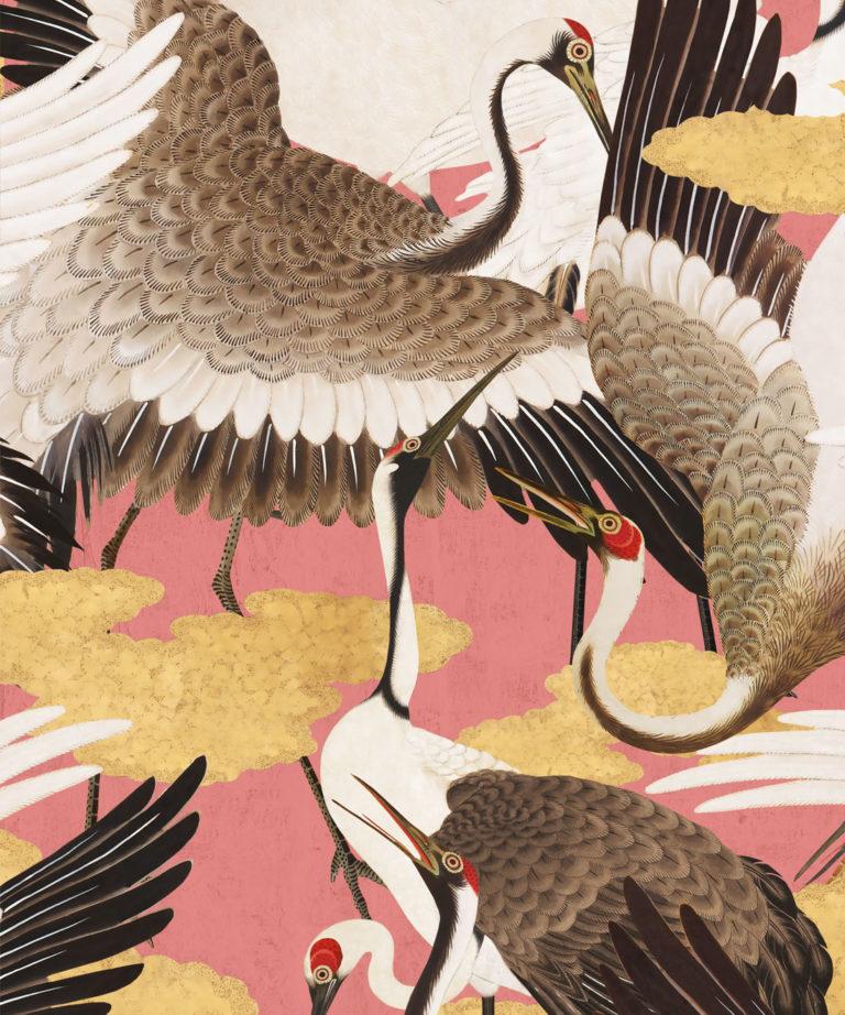 Cranes Pinku