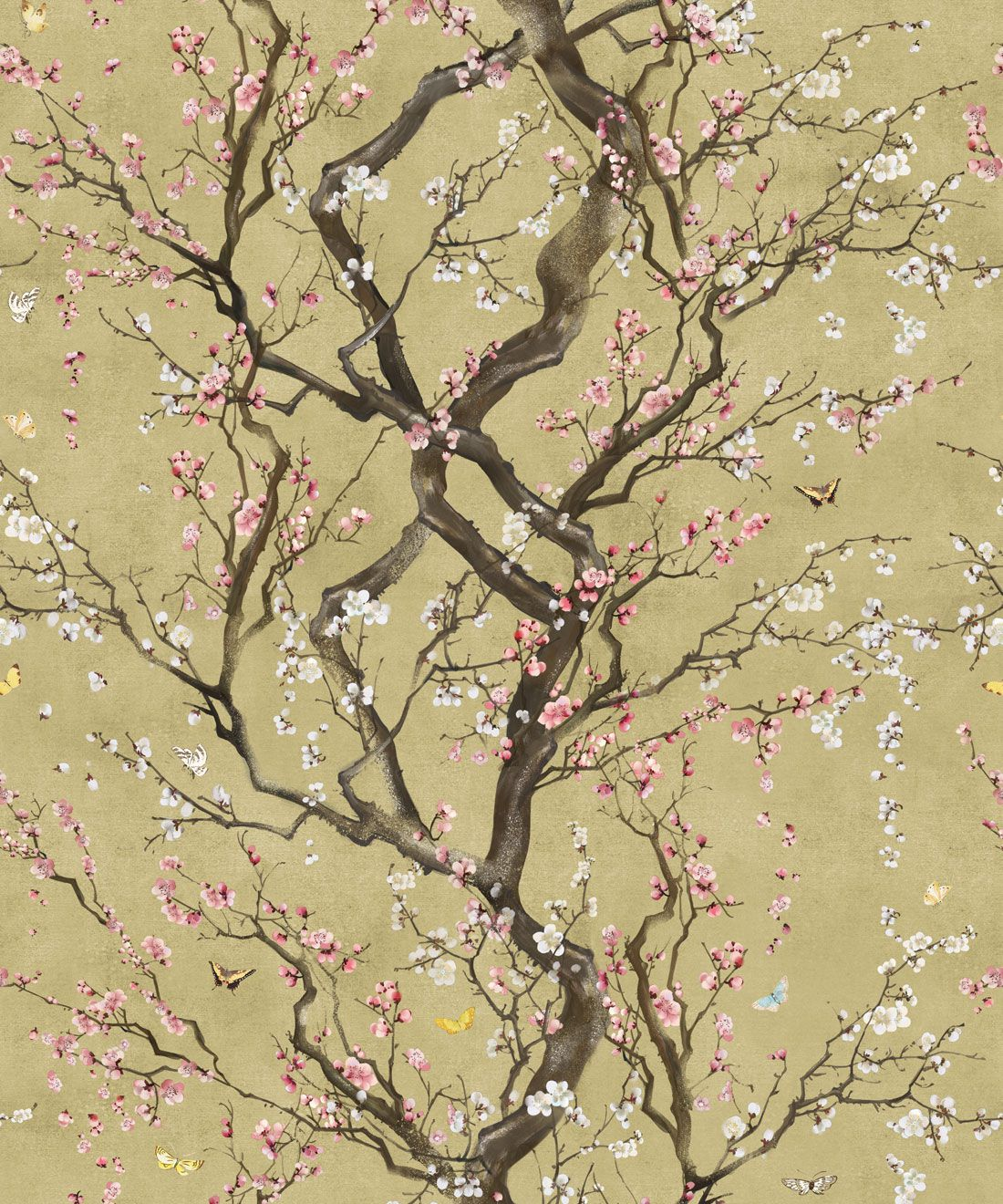 Japanese Floral Wallpaper Plum Blossom, Kingdom Home