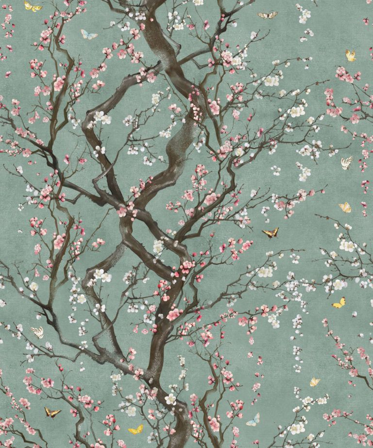 Floral Japanese Wallpaper