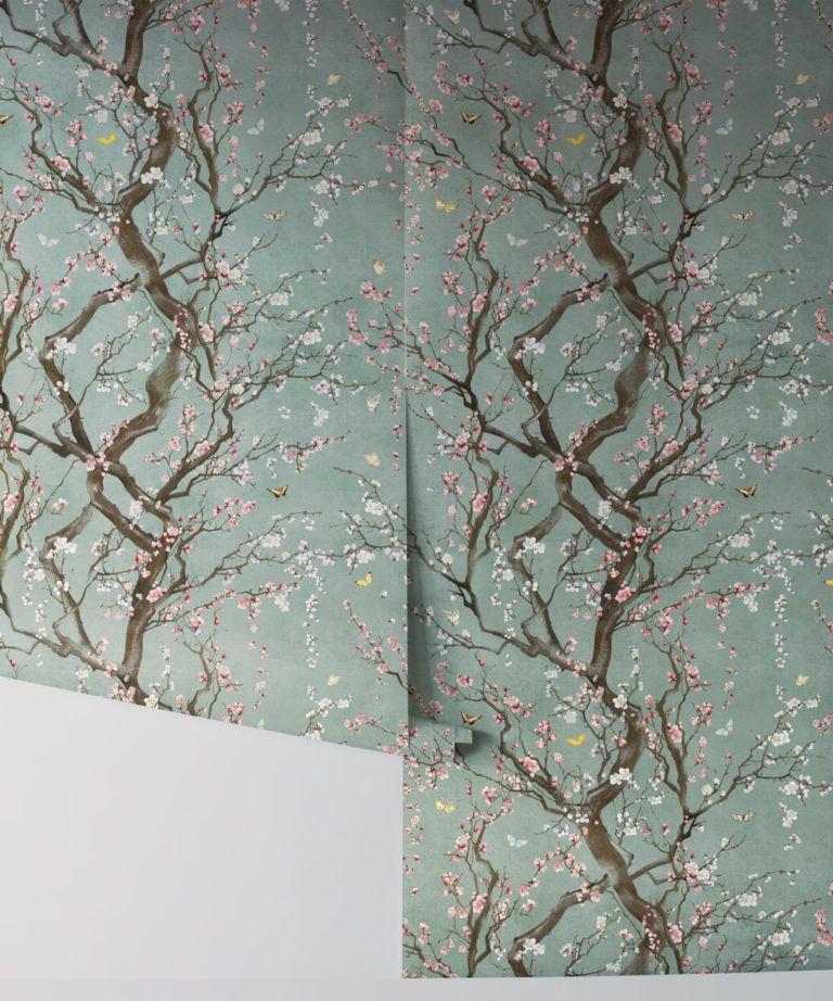 Floral Japanese Wallpaper